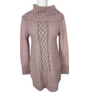 {Kaisley} Anthro Wool Blend Cowl Neck Knit Sweater